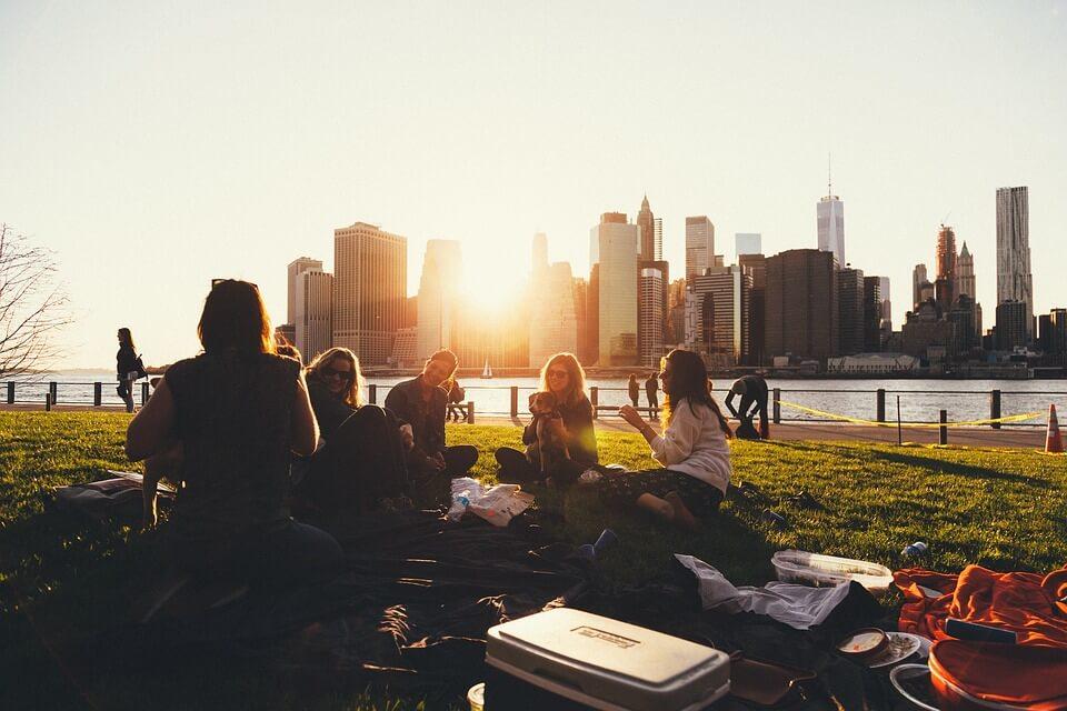 rodzinny fajny piknik